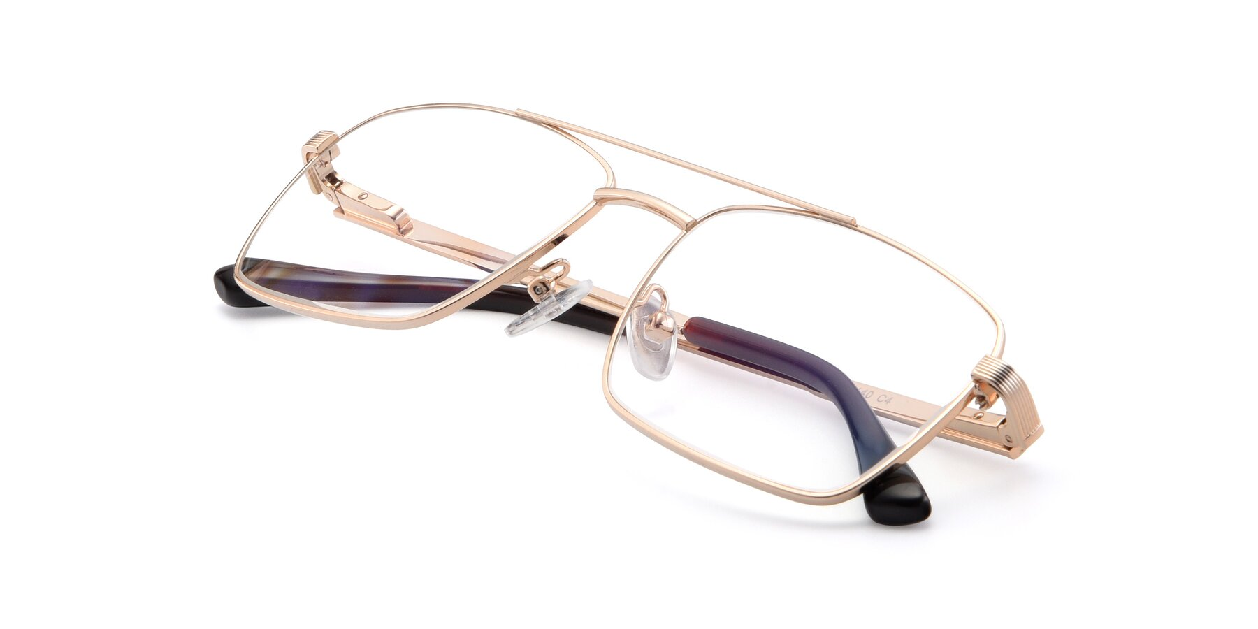 View of 9469 in Gold with Clear Eyeglass Lenses