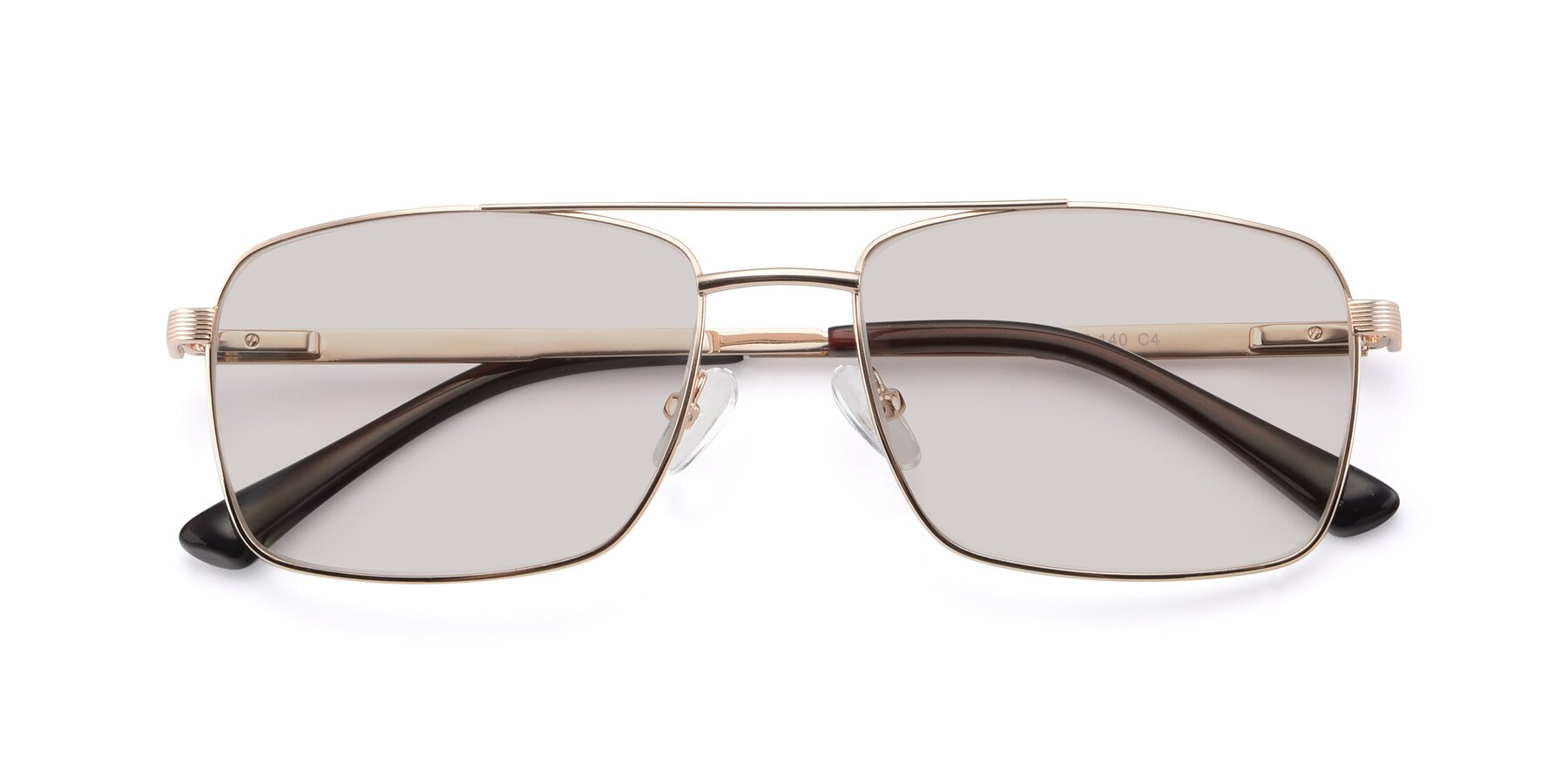 Folded Front of 9469 in Gold with Light Brown Tinted Lenses