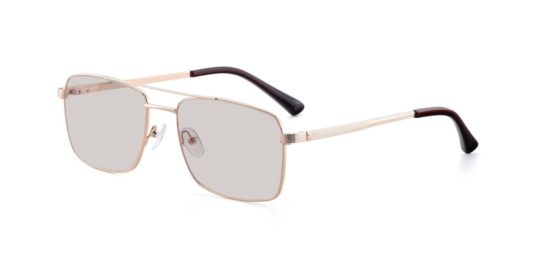 Angle of 9469 in Gold with Light Brown Tinted Lenses