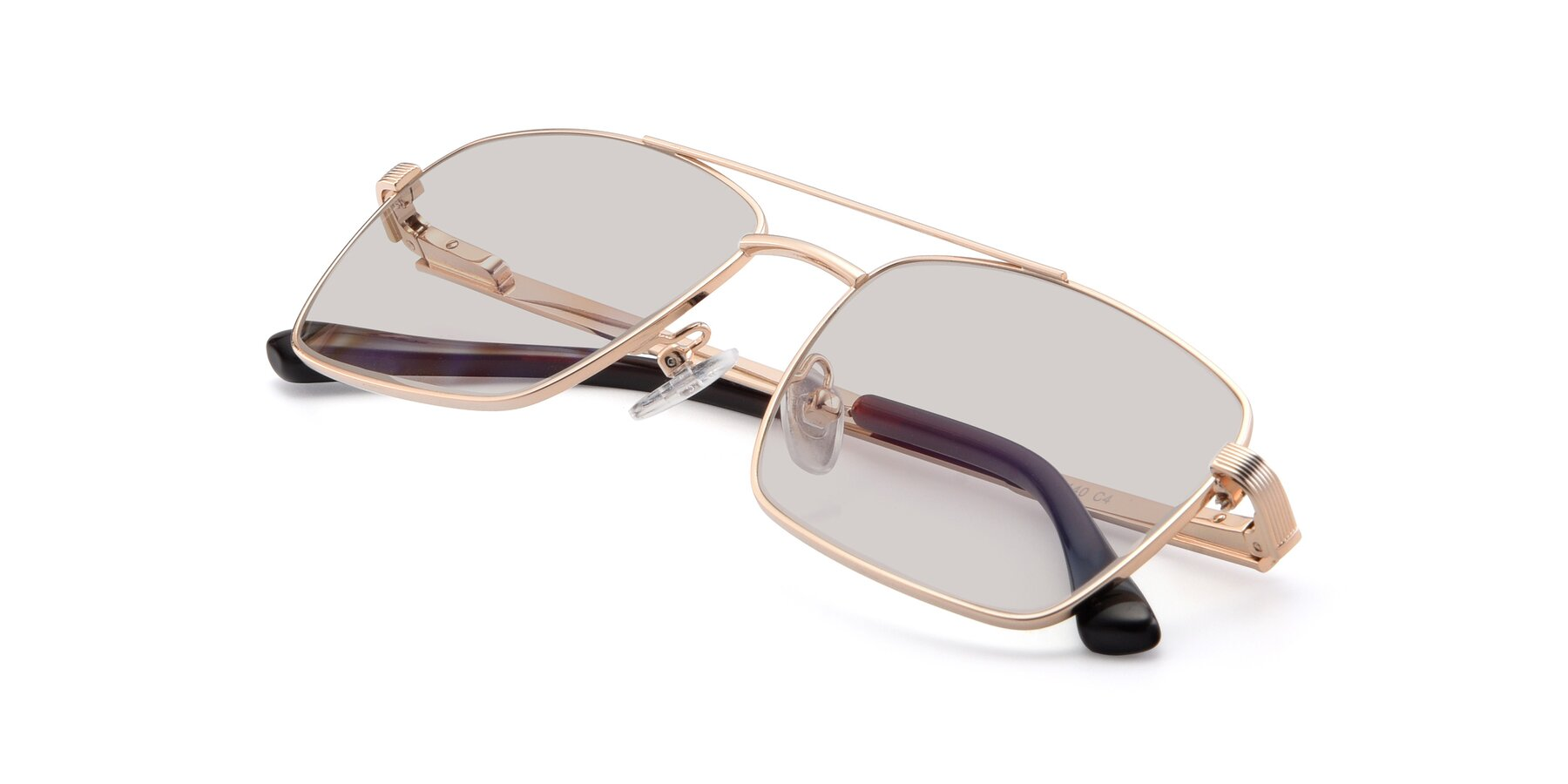 View of 9469 in Gold with Light Brown Tinted Lenses