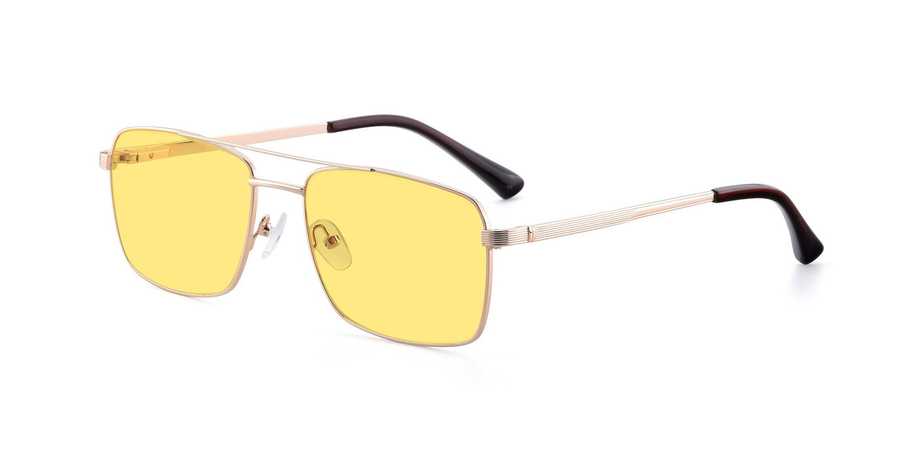 Angle of 9469 in Gold with Medium Yellow Tinted Lenses
