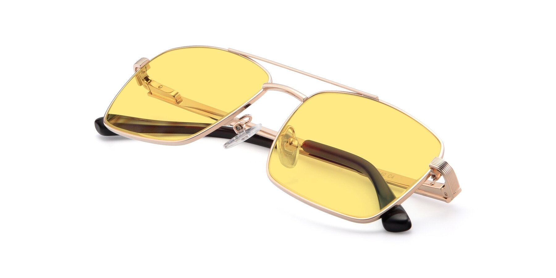 View of 9469 in Gold with Medium Yellow Tinted Lenses