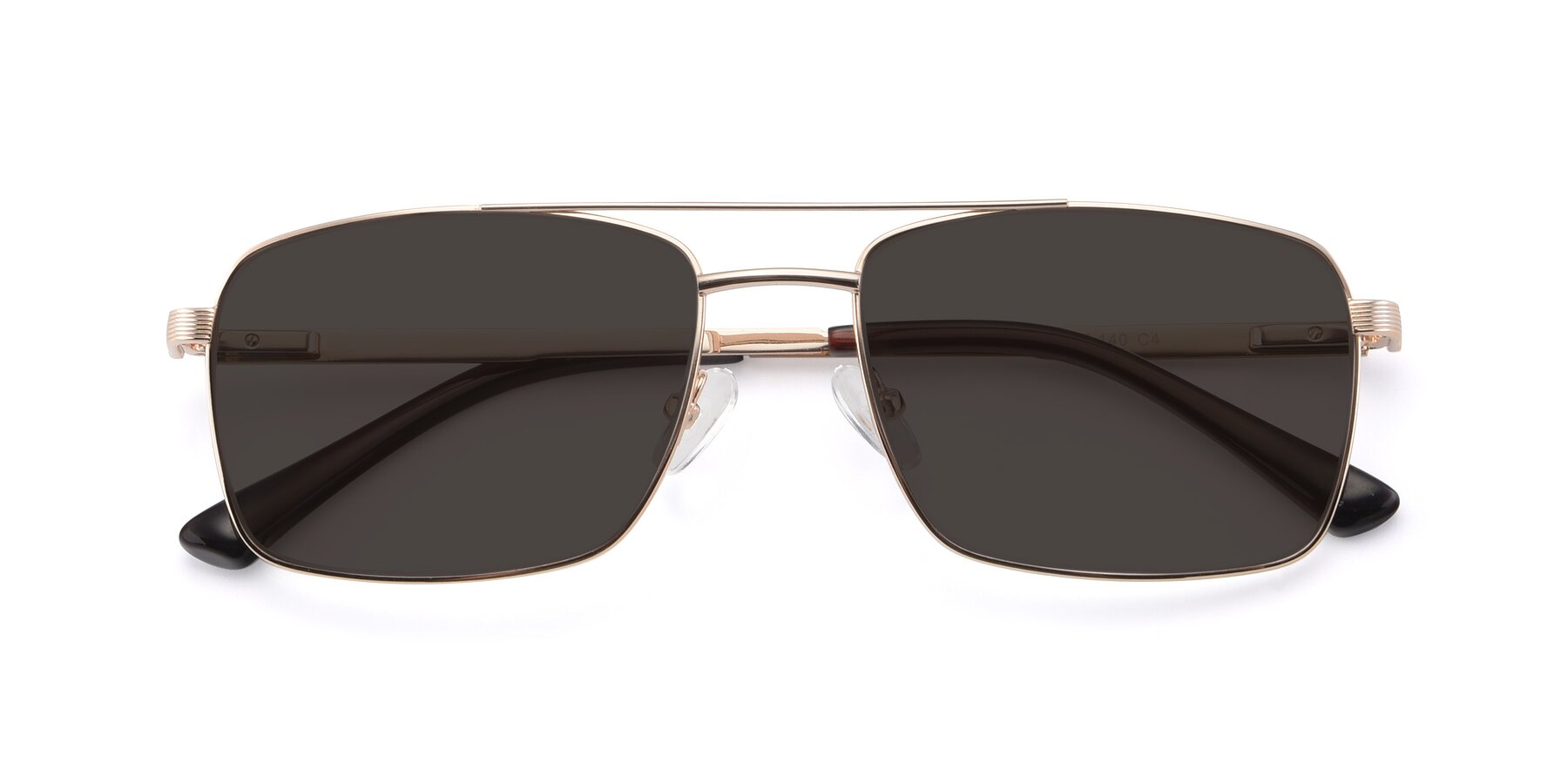 Folded Front of 9469 in Gold with Gray Tinted Lenses