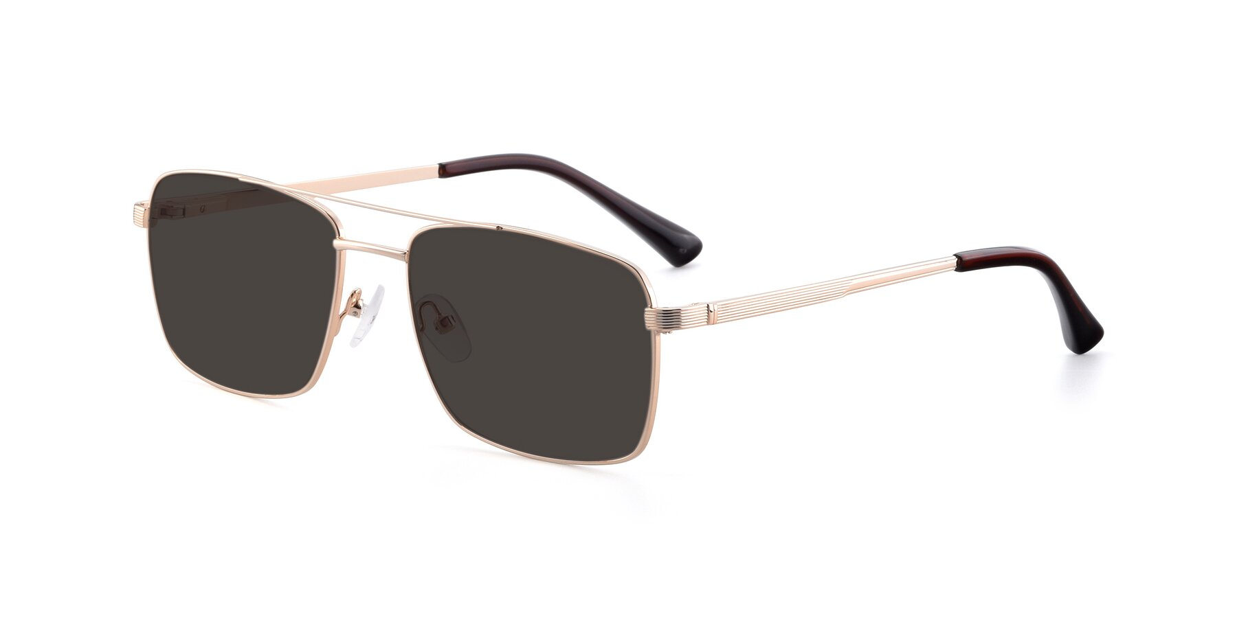 Angle of 9469 in Gold with Gray Tinted Lenses