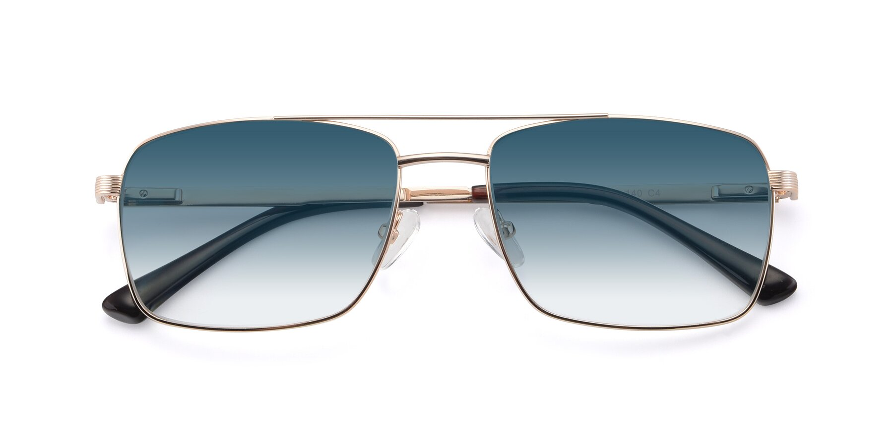 Folded Front of 9469 in Gold with Blue Gradient Lenses