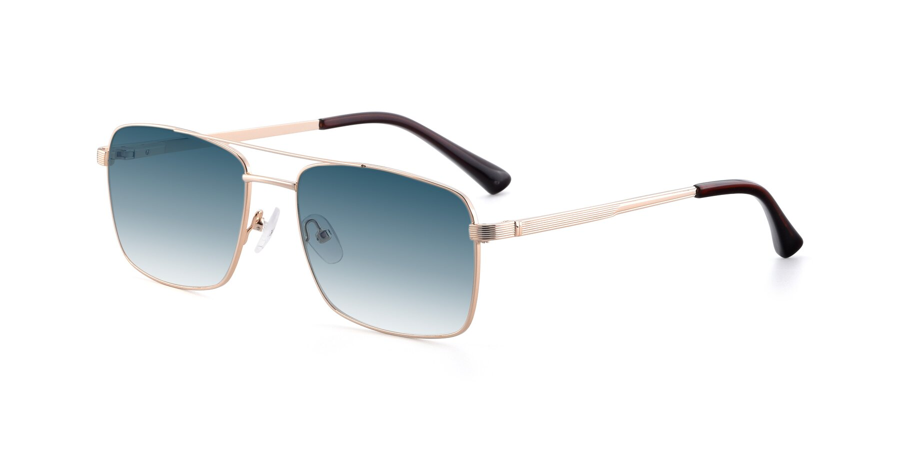 Angle of 9469 in Gold with Blue Gradient Lenses