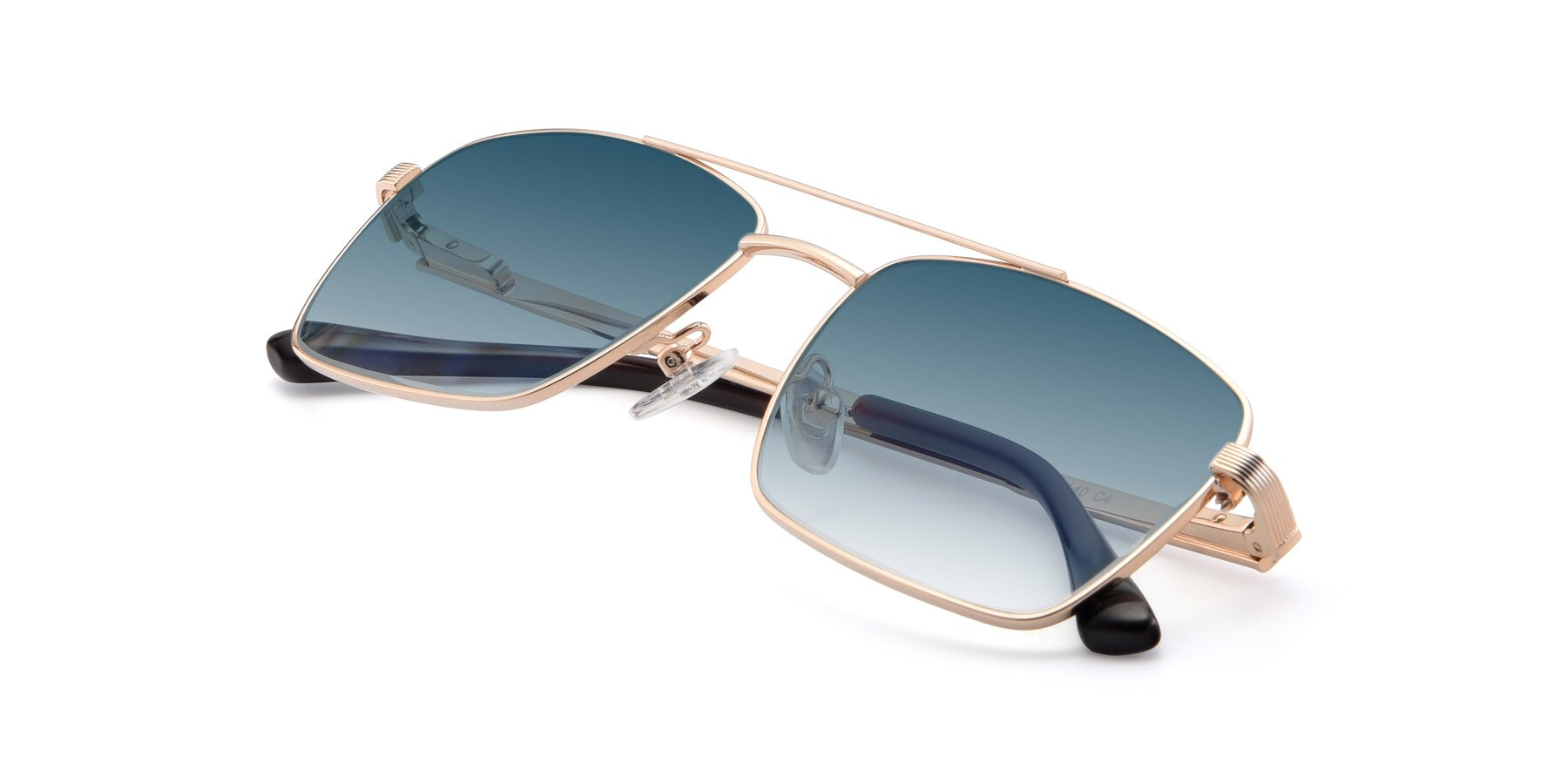 View of 9469 in Gold with Blue Gradient Lenses