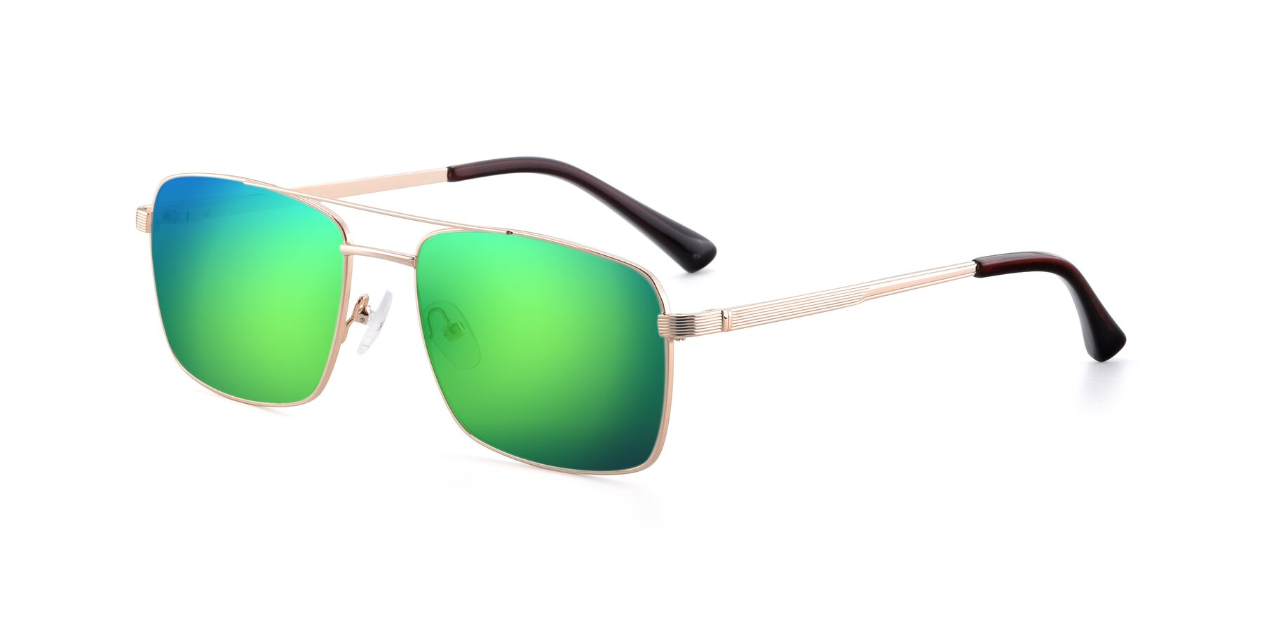 Angle of 9469 in Gold with Green Mirrored Lenses