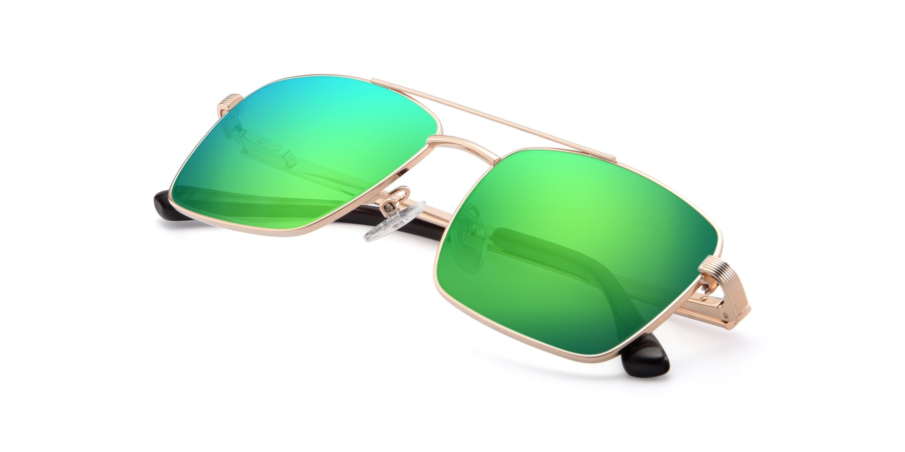 View of 9469 in Gold with Green Mirrored Lenses