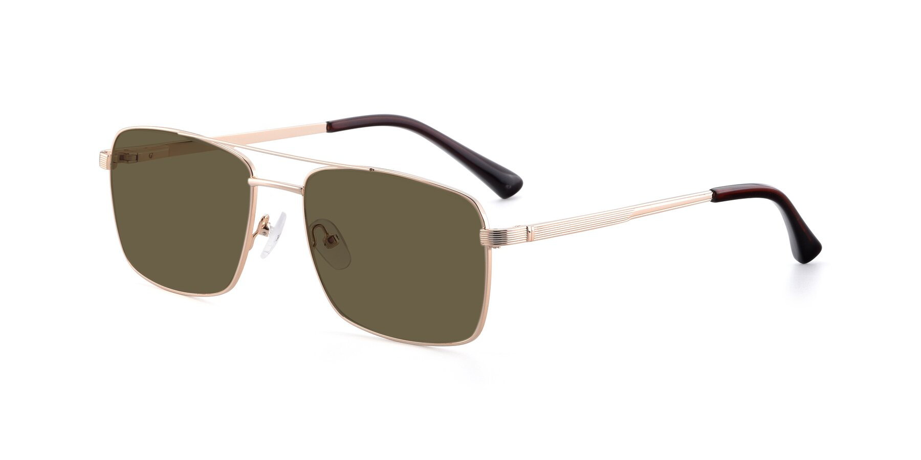 Angle of 9469 in Gold with Brown Polarized Lenses