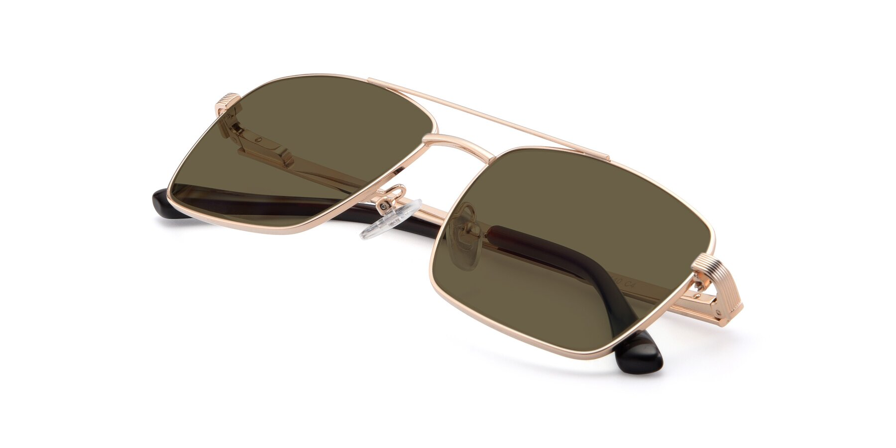 View of 9469 in Gold with Brown Polarized Lenses