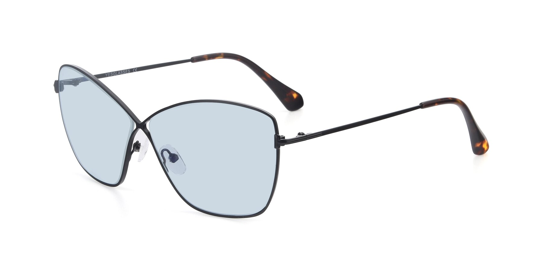 Angle of 9412 in Black with Light Blue Tinted Lenses