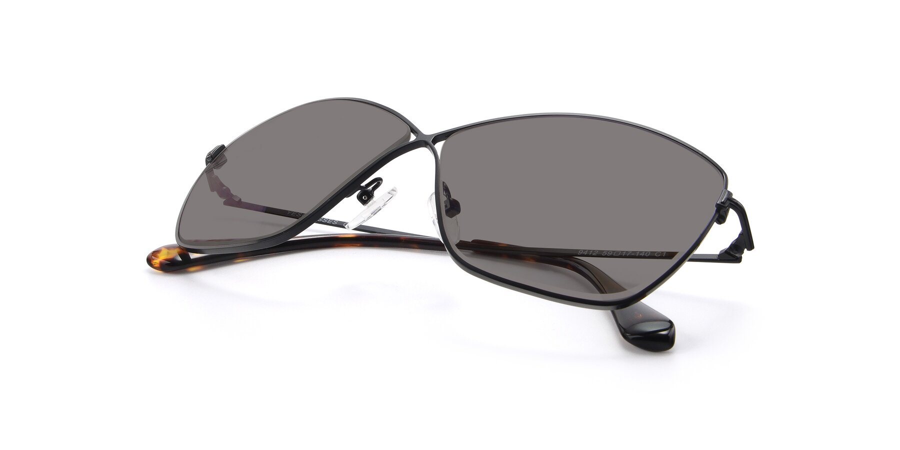 View of 9412 in Black with Medium Gray Tinted Lenses