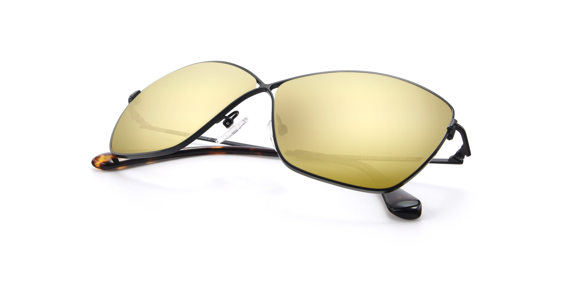 View of 9412 in Black with Gold Mirrored Lenses