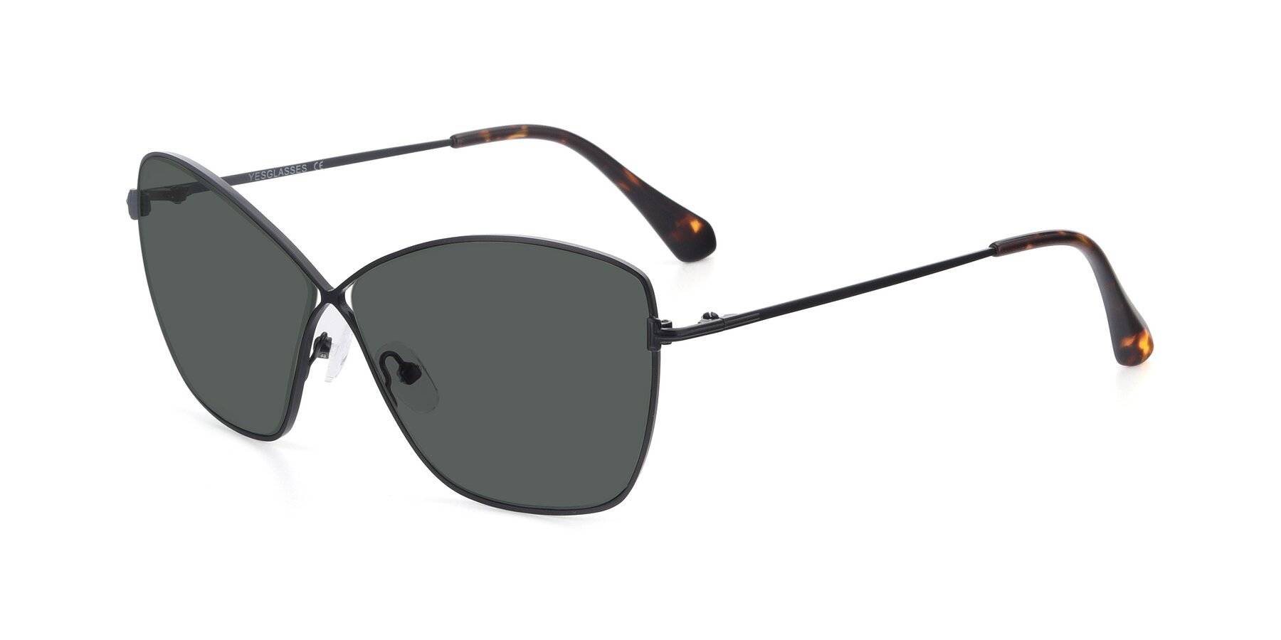 Angle of 9412 in Black with Gray Polarized Lenses