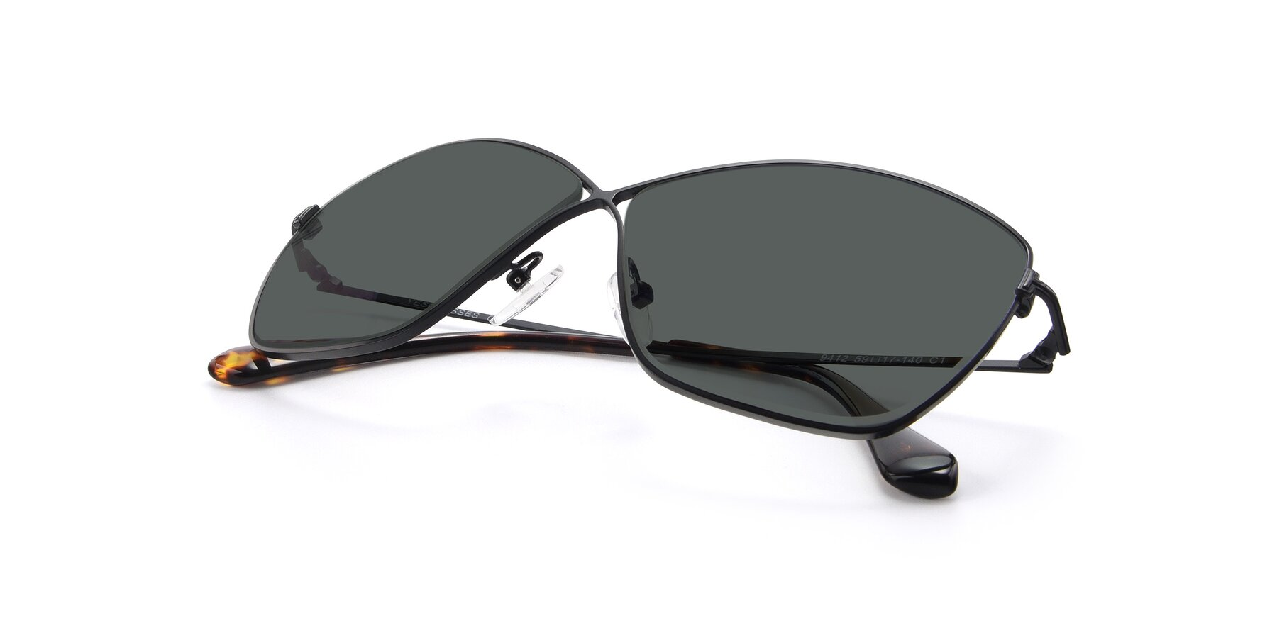 View of 9412 in Black with Gray Polarized Lenses