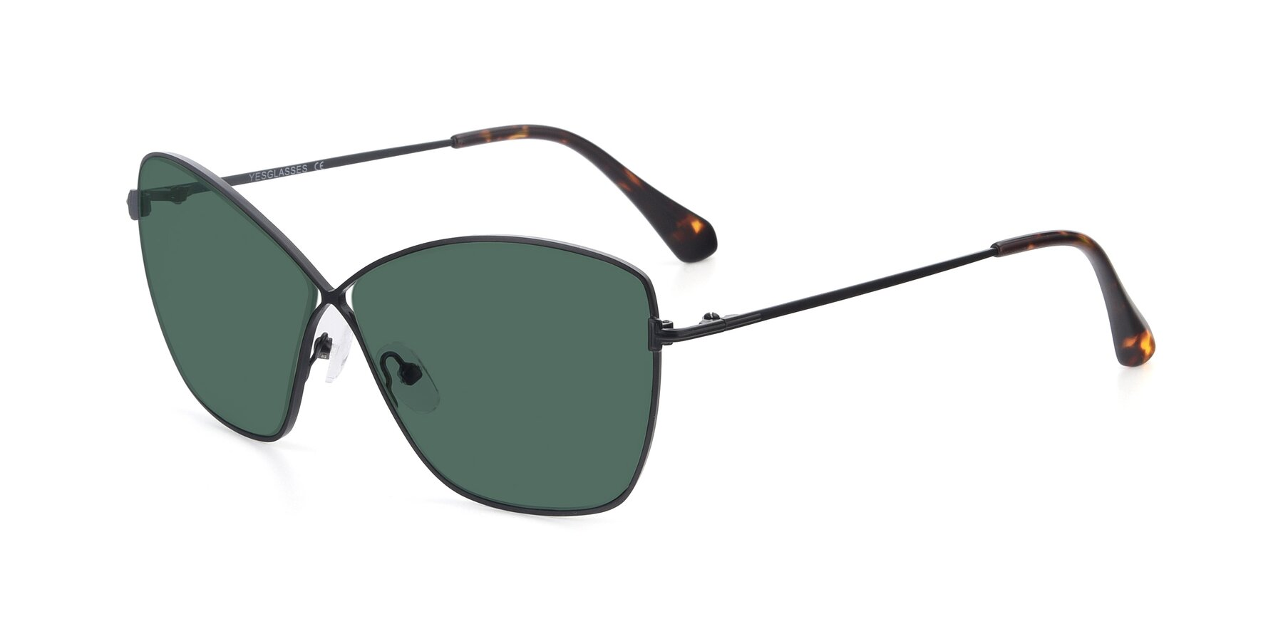 Angle of 9412 in Black with Green Polarized Lenses