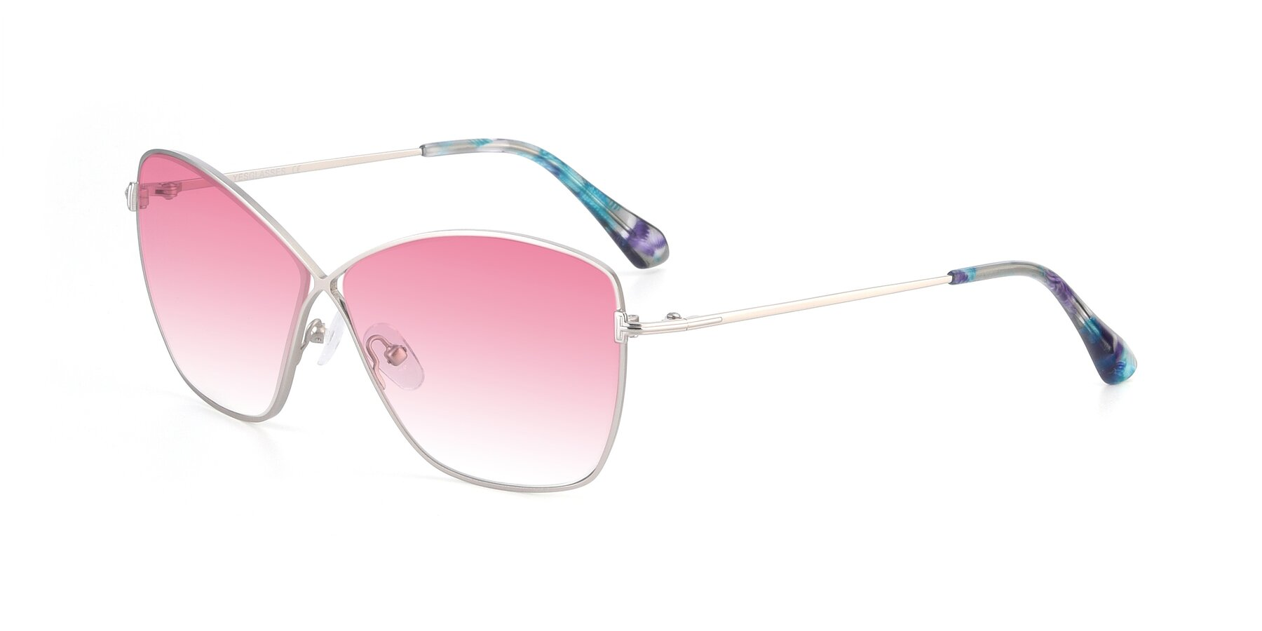 Angle of 9412 in Silver with Pink Gradient Lenses