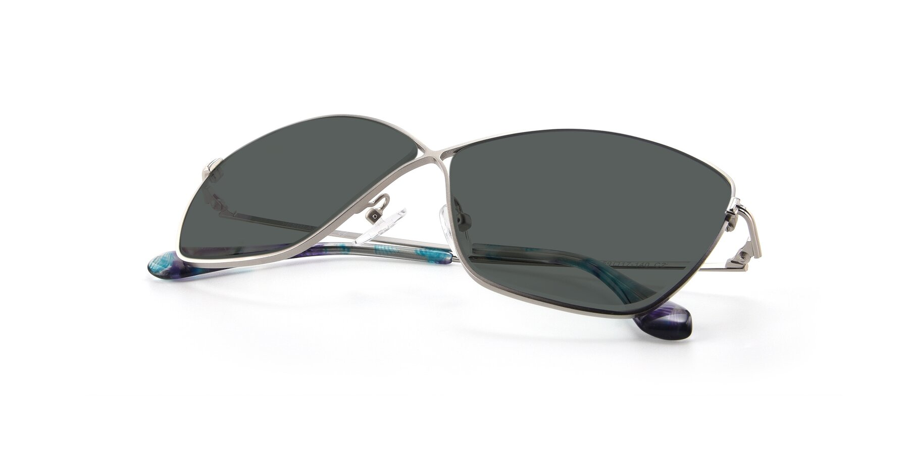 View of 9412 in Silver with Gray Polarized Lenses