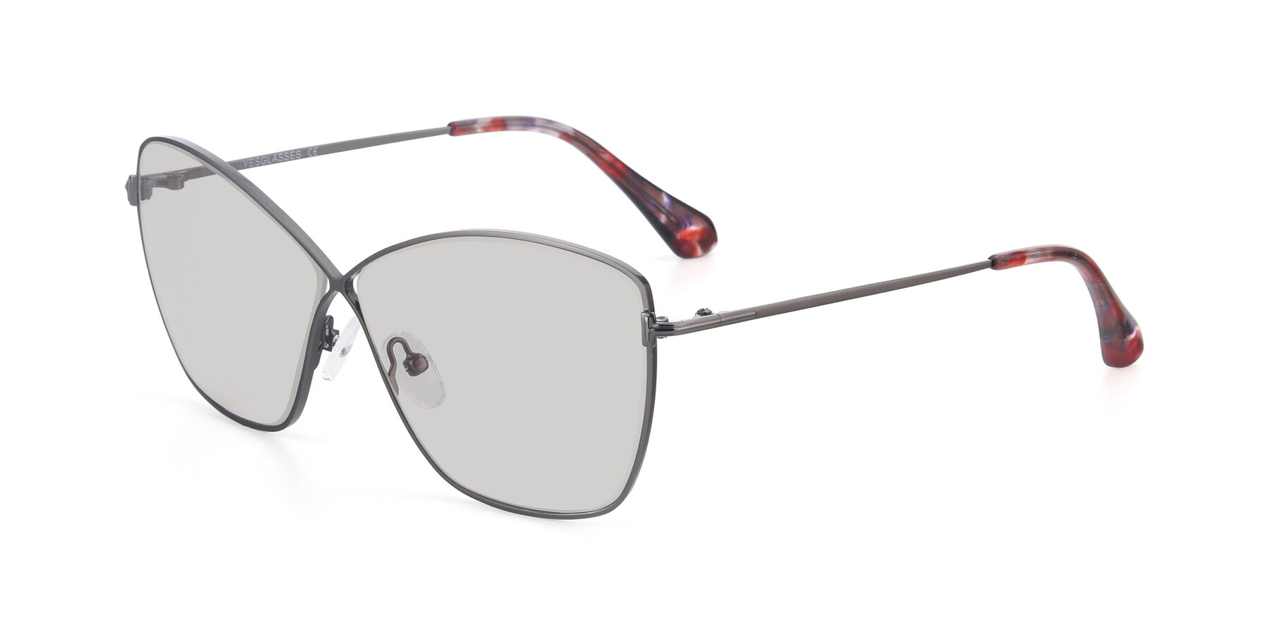 Angle of 9412 in Gunmetal with Light Gray Tinted Lenses