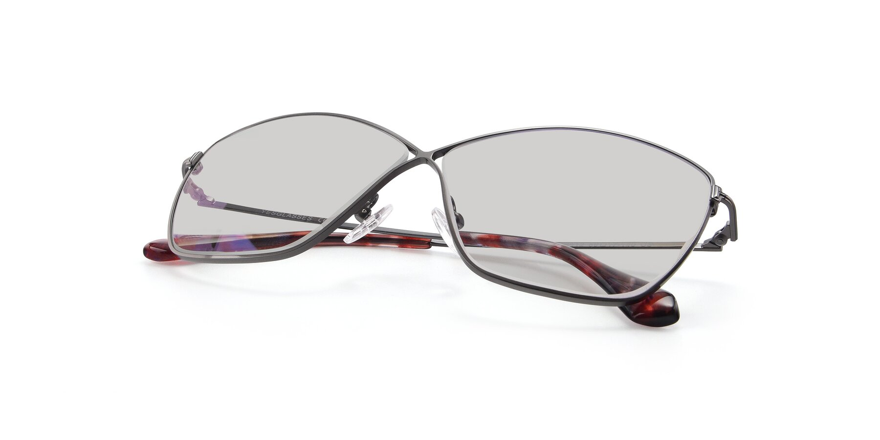 View of 9412 in Gunmetal with Light Gray Tinted Lenses