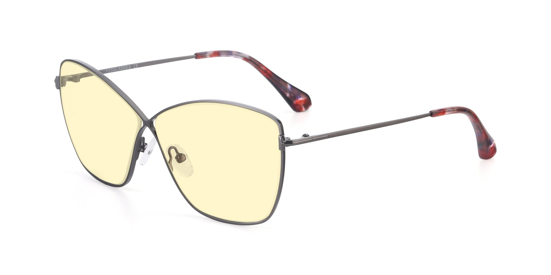 Angle of 9412 in Gunmetal with Light Yellow Tinted Lenses