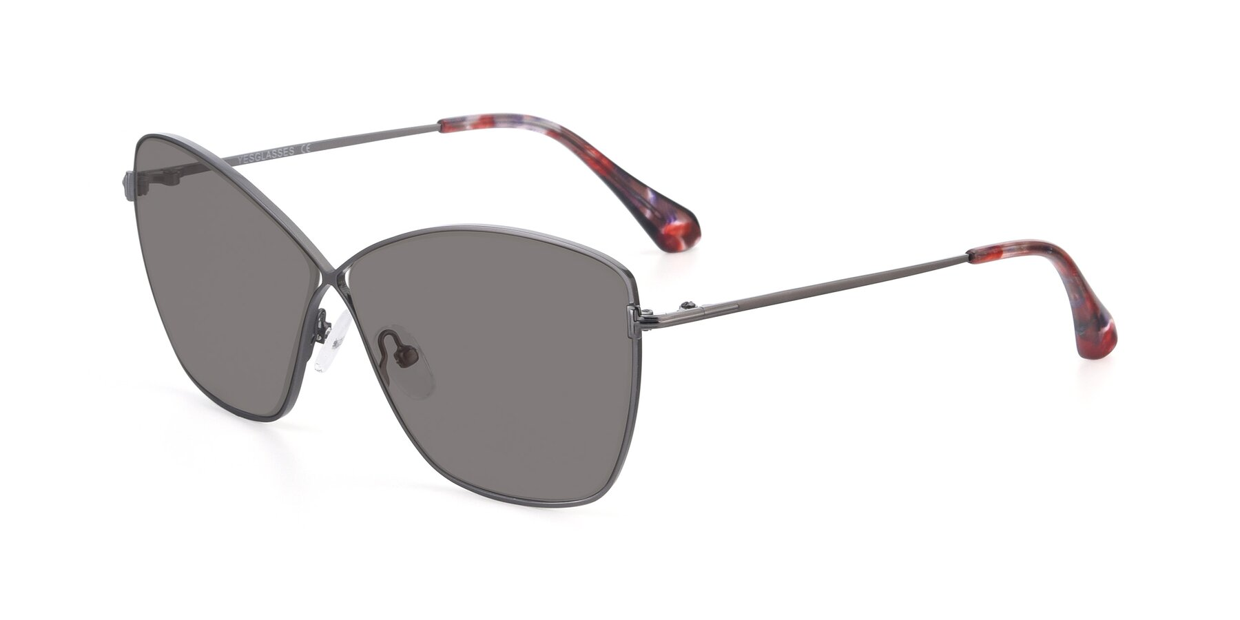 Angle of 9412 in Gunmetal with Medium Gray Tinted Lenses