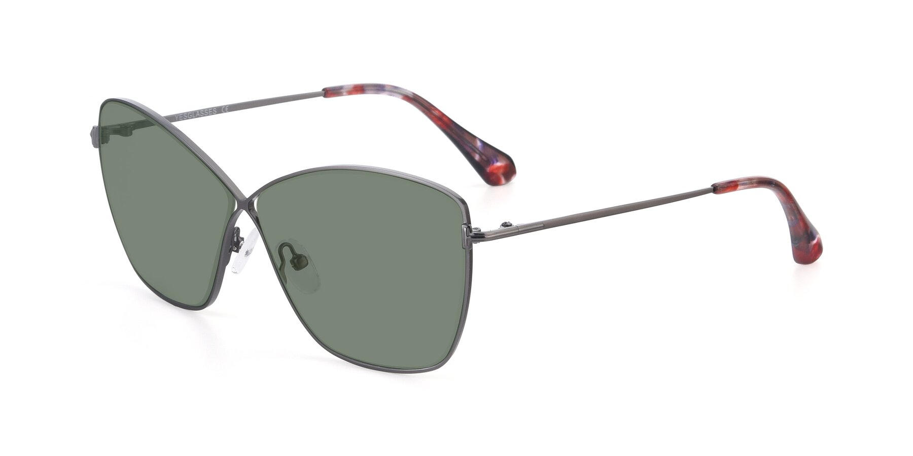 Angle of 9412 in Gunmetal with Medium Green Tinted Lenses