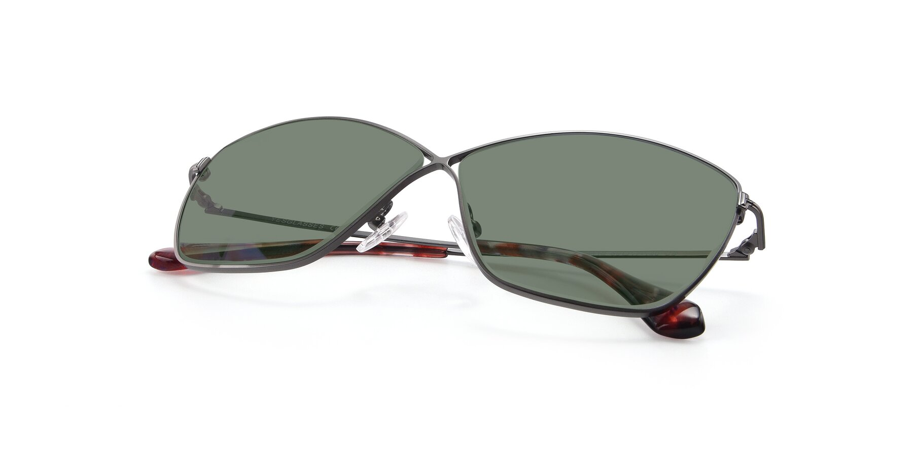 View of 9412 in Gunmetal with Medium Green Tinted Lenses