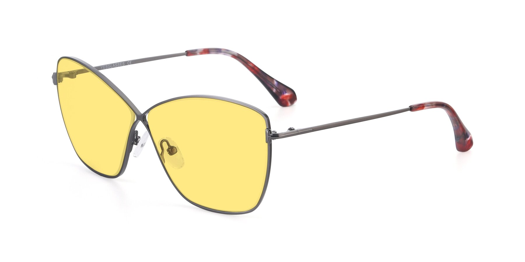Angle of 9412 in Gunmetal with Medium Yellow Tinted Lenses