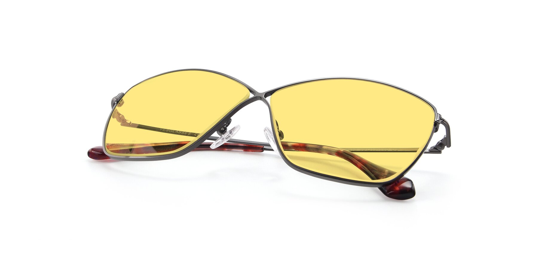 View of 9412 in Gunmetal with Medium Yellow Tinted Lenses