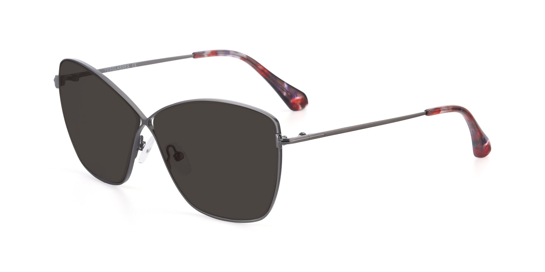 Angle of 9412 in Gunmetal with Gray Tinted Lenses