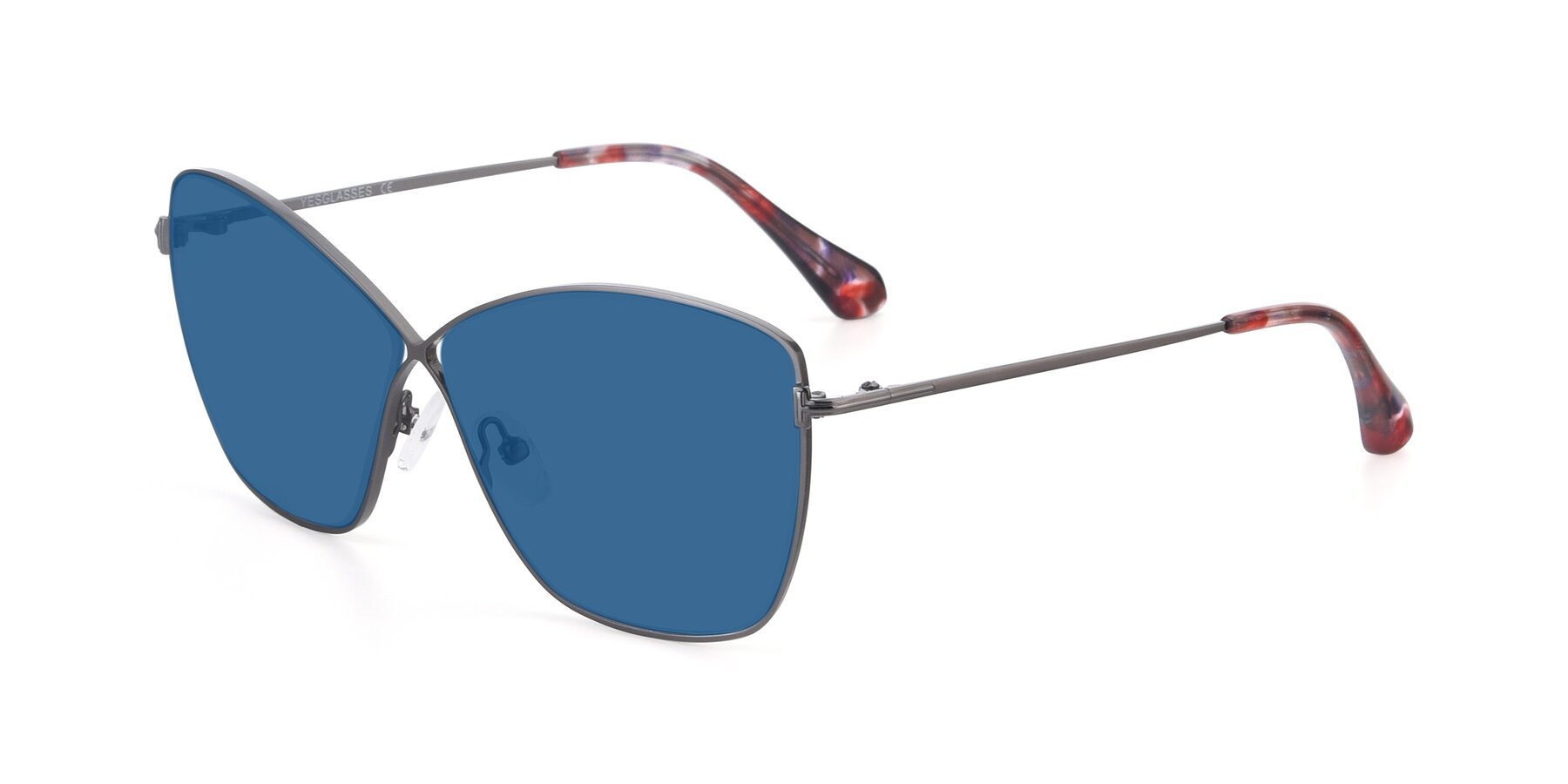 Angle of 9412 in Gunmetal with Blue Tinted Lenses