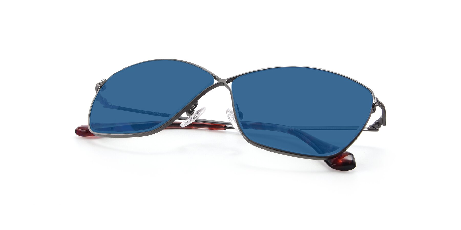 View of 9412 in Gunmetal with Blue Tinted Lenses