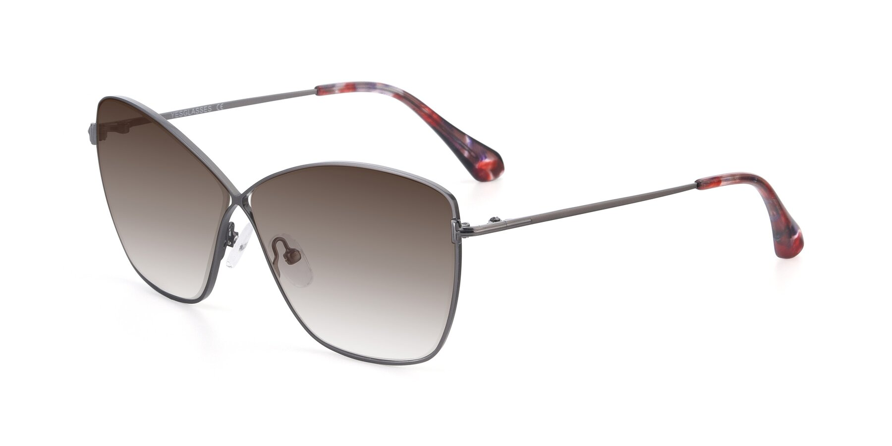 Angle of 9412 in Gunmetal with Brown Gradient Lenses
