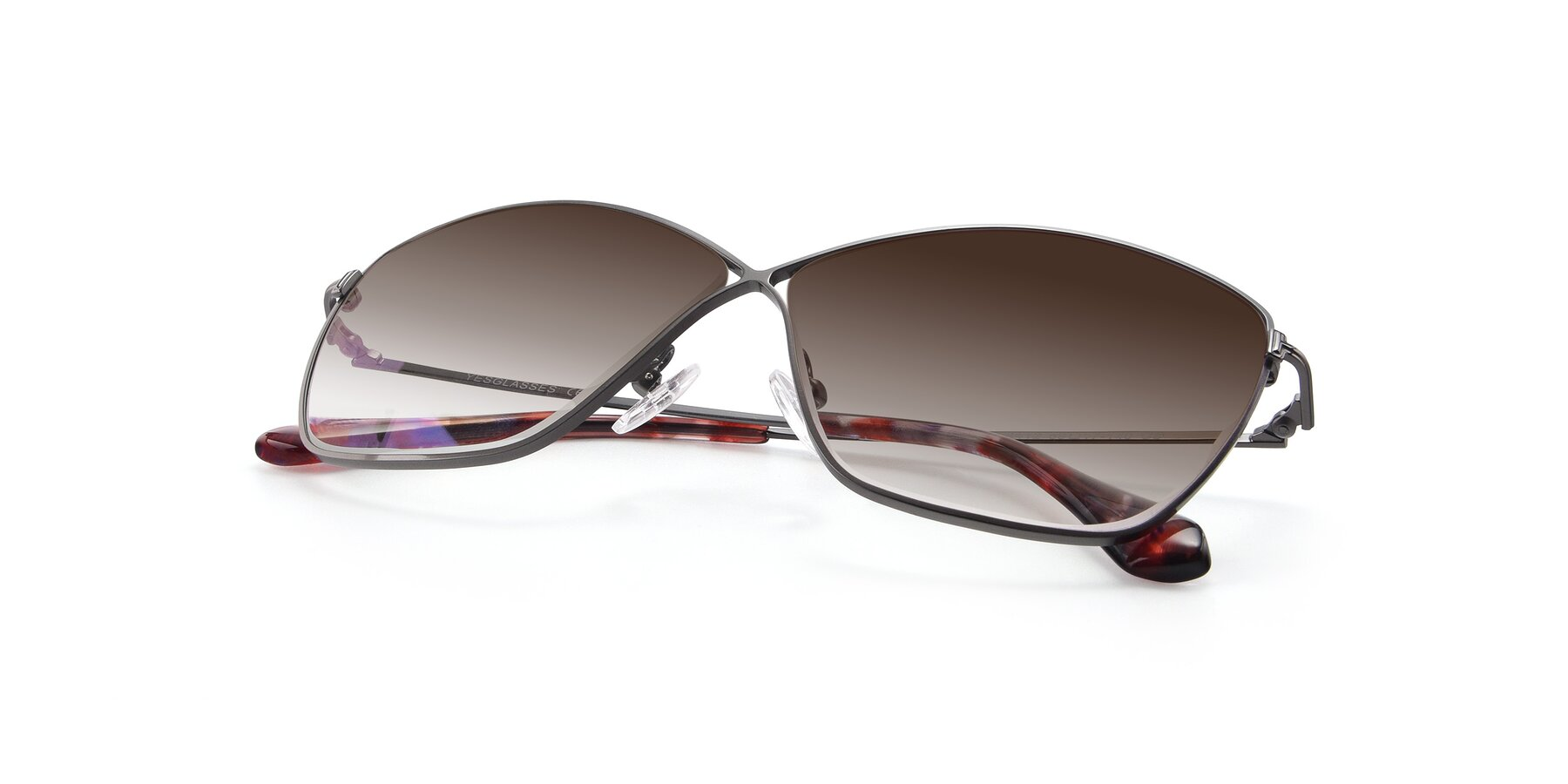 View of 9412 in Gunmetal with Brown Gradient Lenses