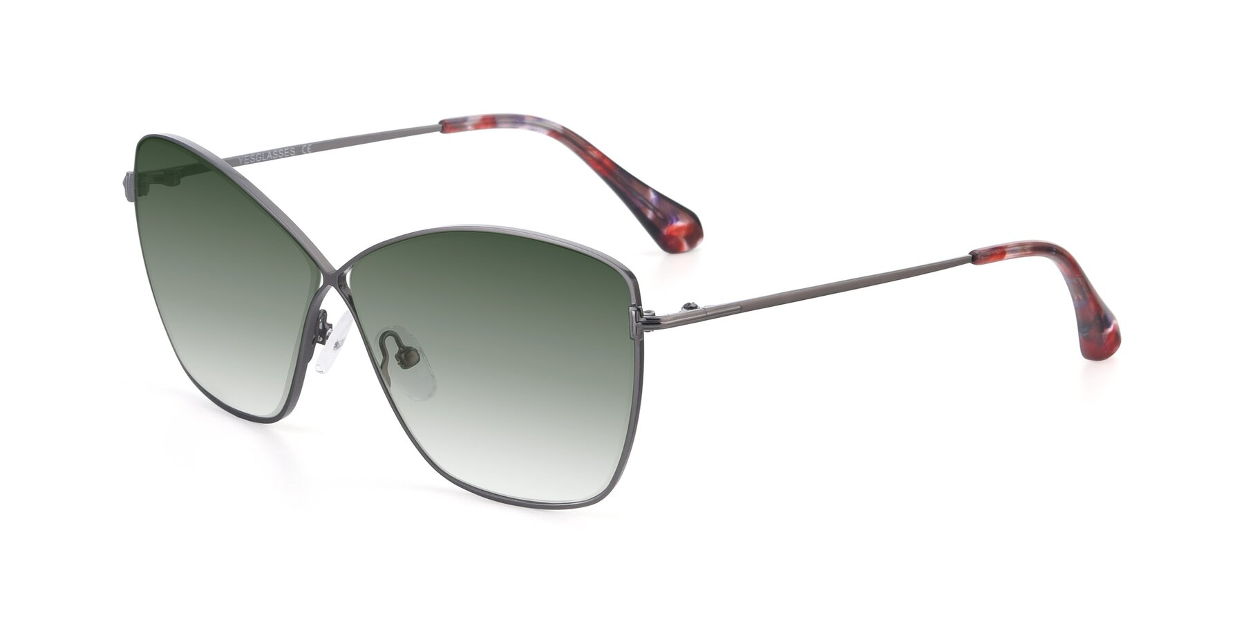 Angle of 9412 in Gunmetal with Green Gradient Lenses