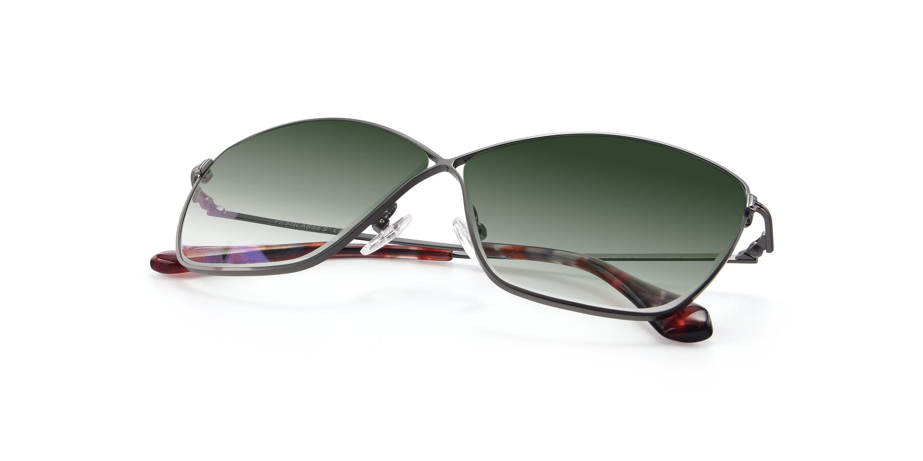 View of 9412 in Gunmetal with Green Gradient Lenses