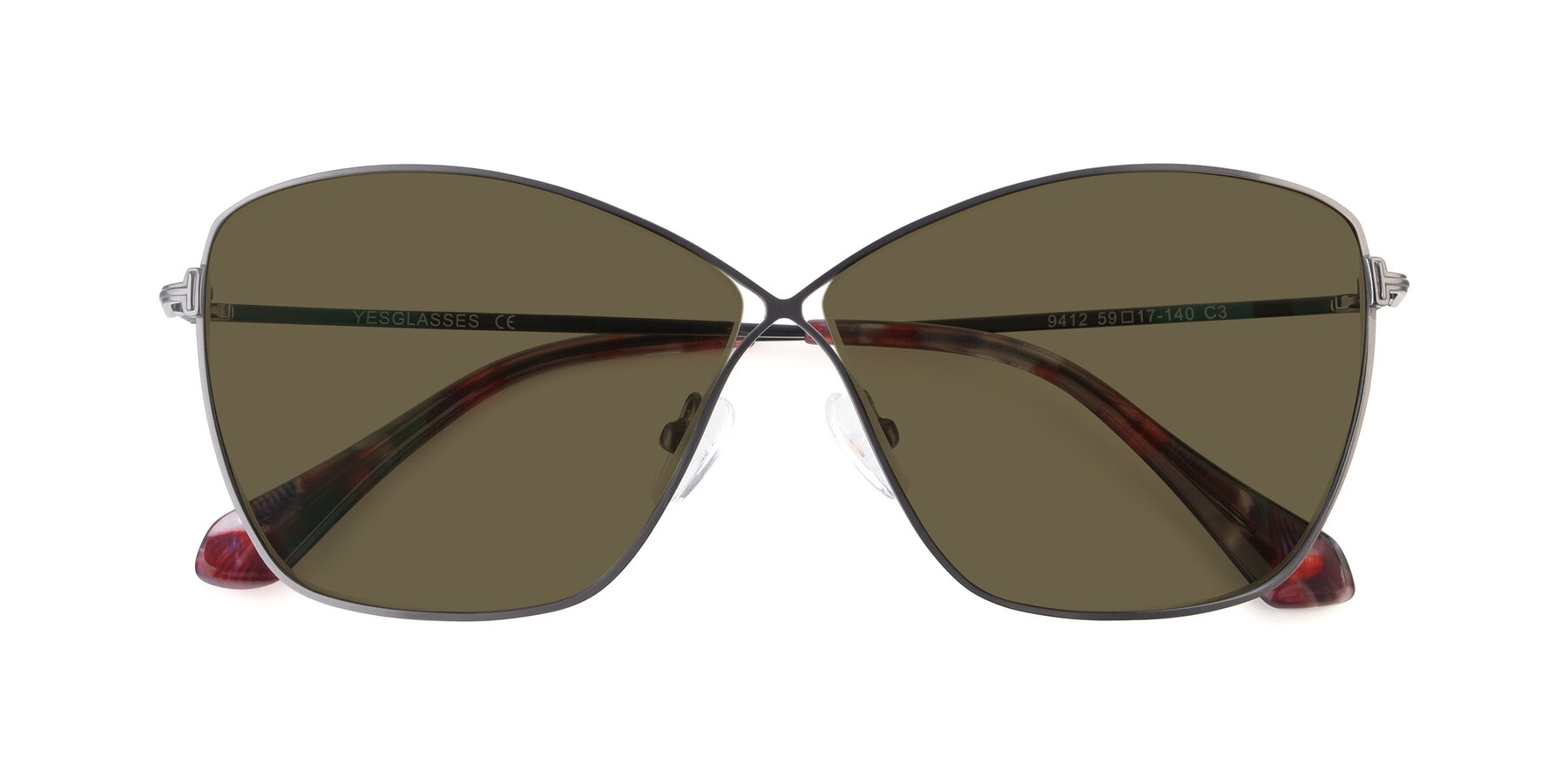 Folded Front of 9412 in Gunmetal with Brown Polarized Lenses