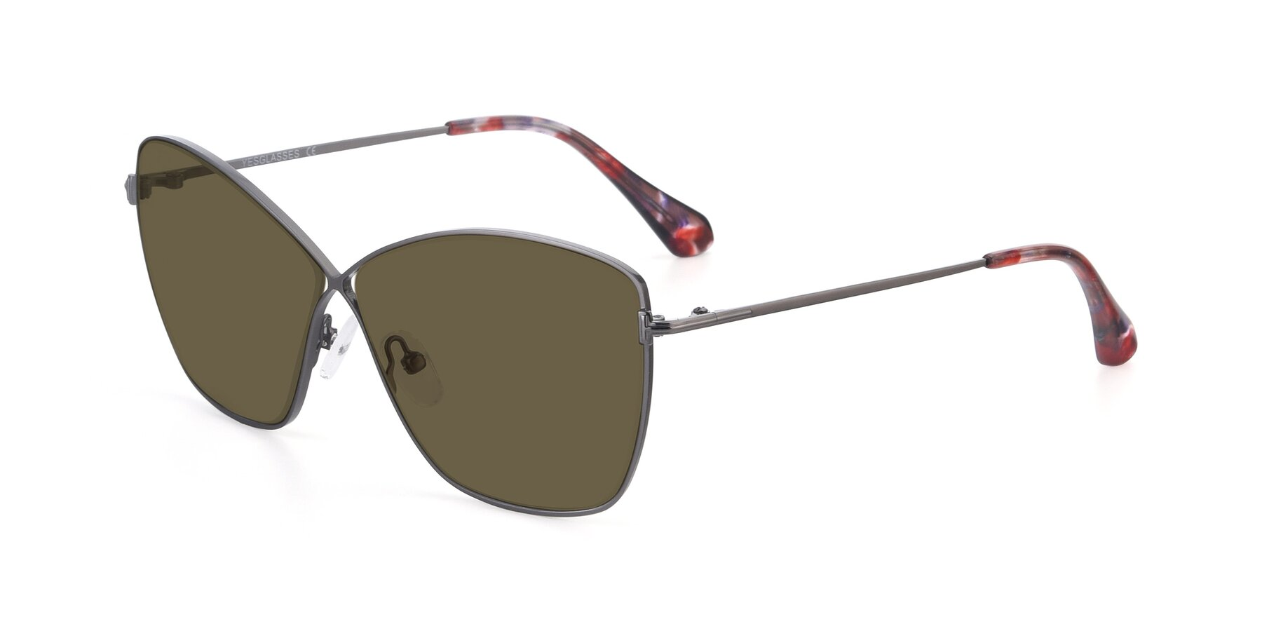 Angle of 9412 in Gunmetal with Brown Polarized Lenses