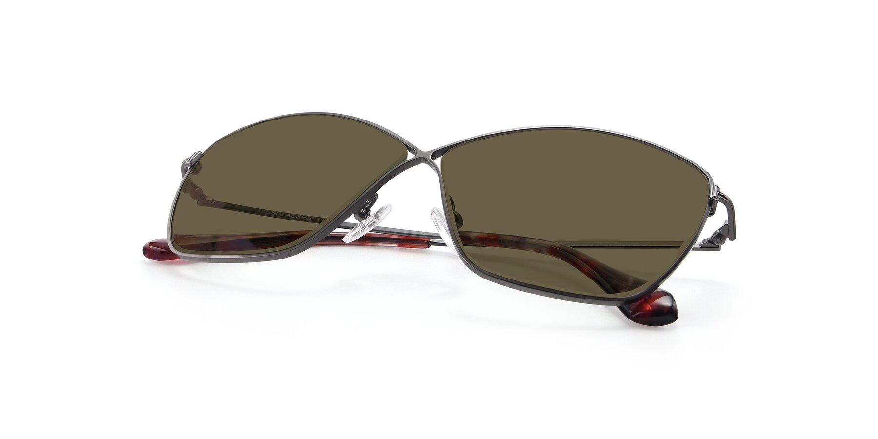 View of 9412 in Gunmetal with Brown Polarized Lenses