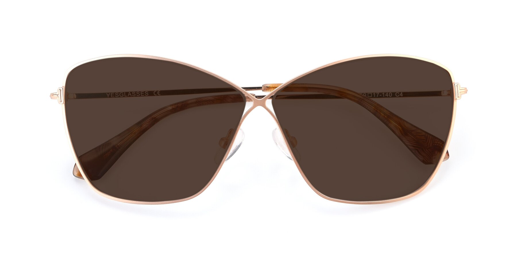 Folded Front of 9412 in Gold with Brown Tinted Lenses