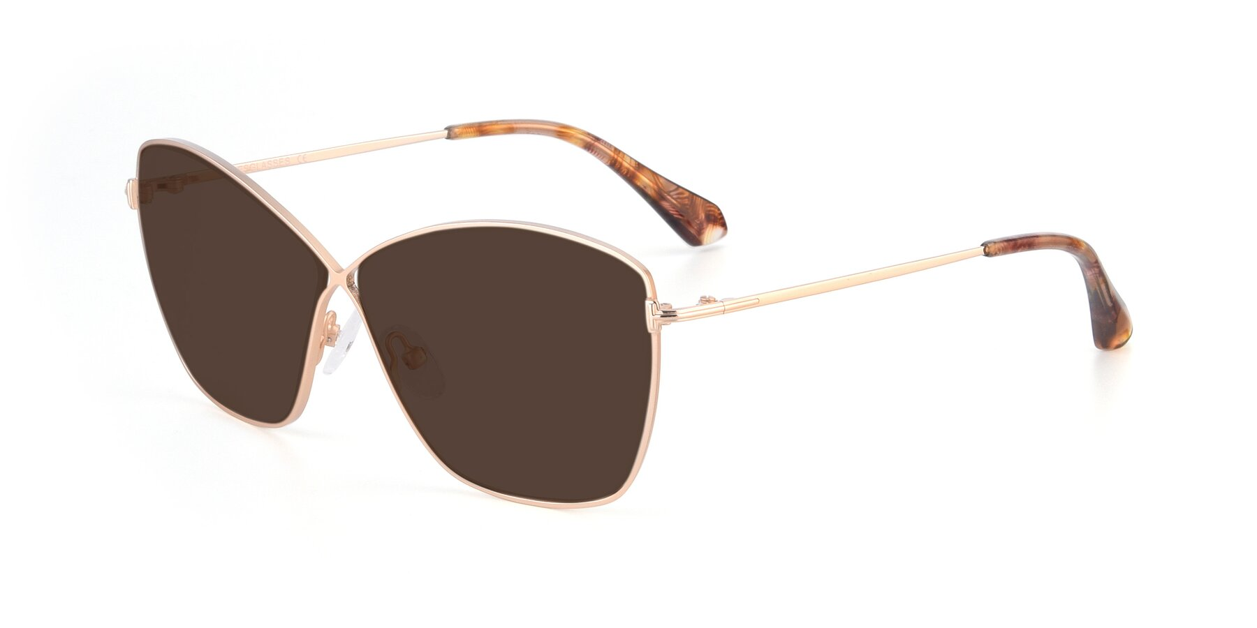 Angle of 9412 in Gold with Brown Tinted Lenses