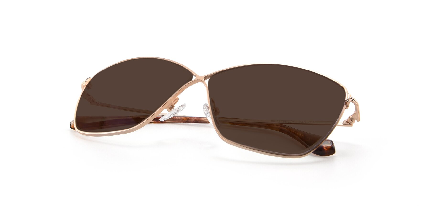 View of 9412 in Gold with Brown Tinted Lenses