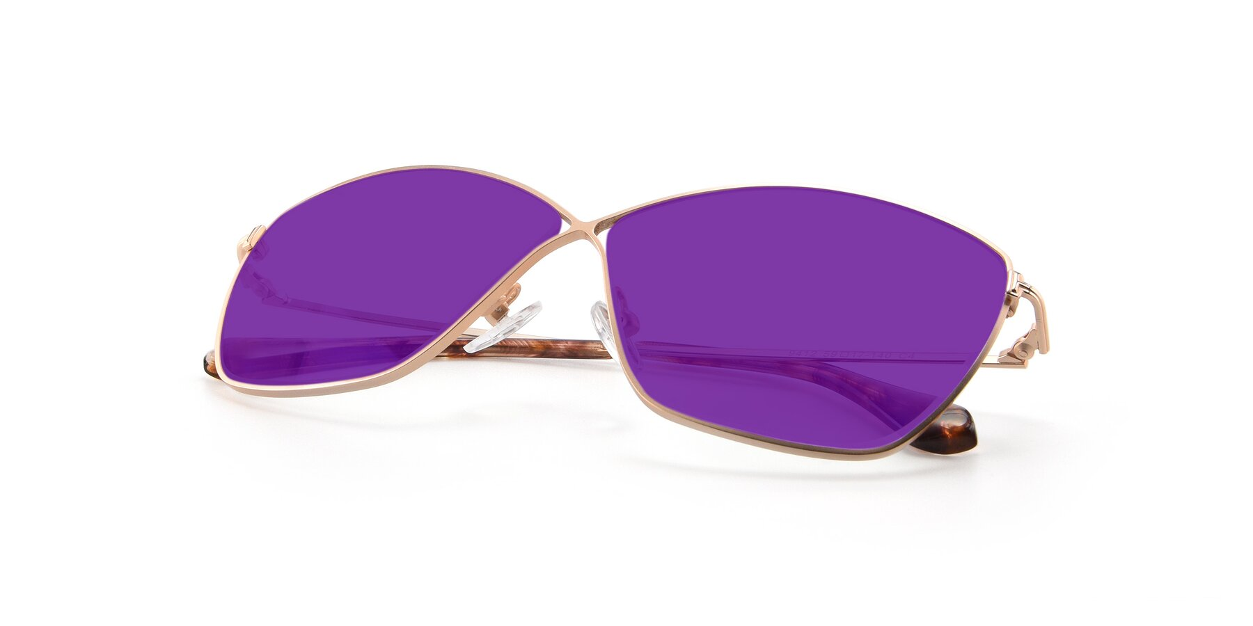 View of 9412 in Gold with Purple Tinted Lenses