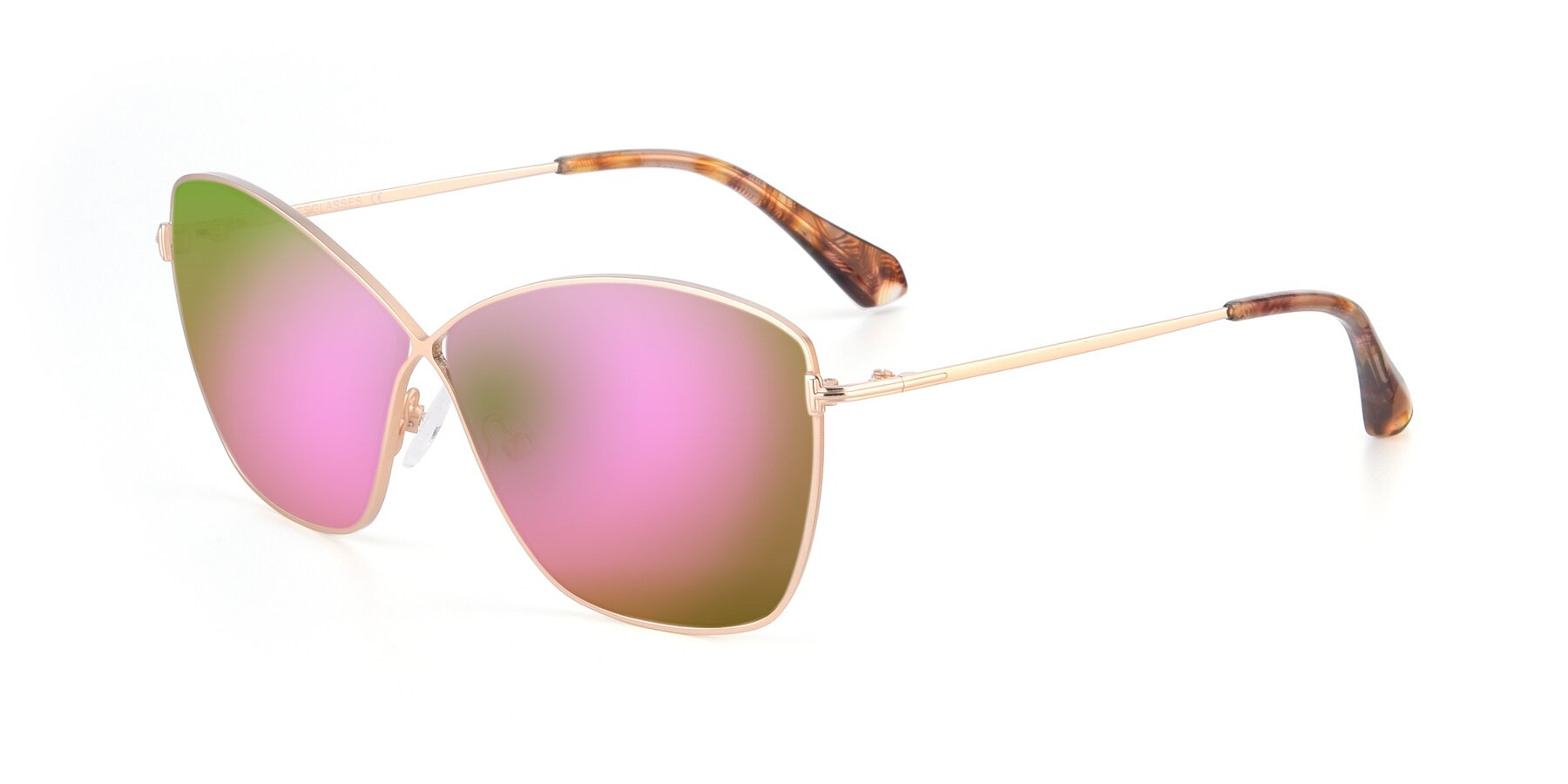 Angle of 9412 in Gold with Pink Mirrored Lenses