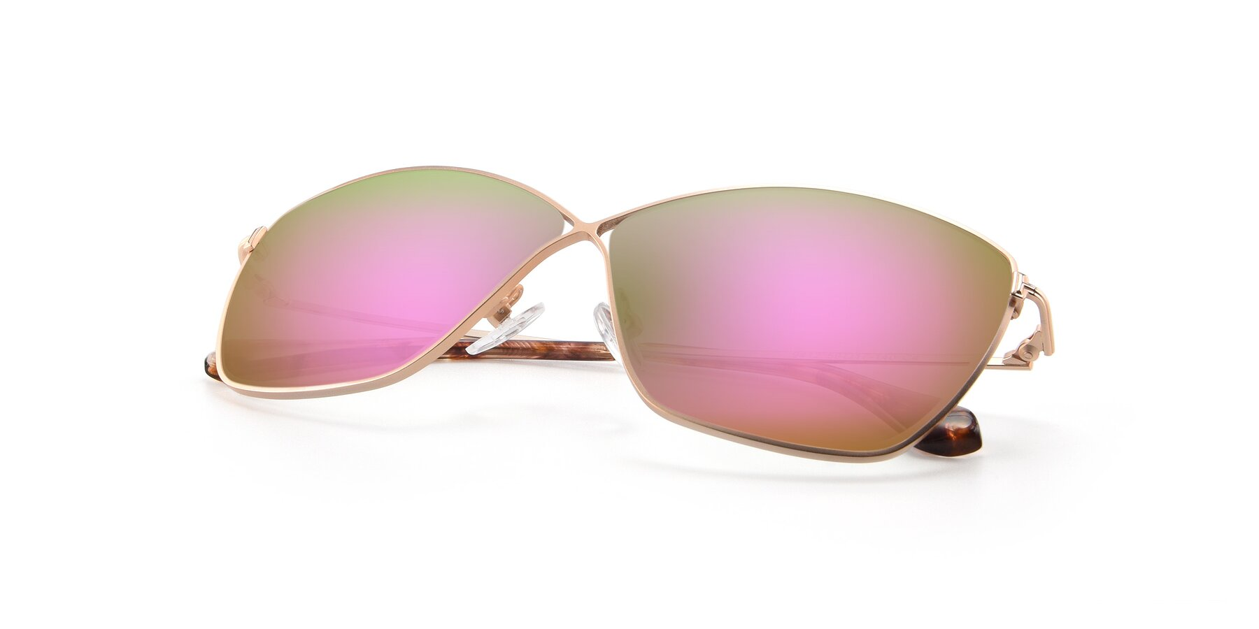 View of 9412 in Gold with Pink Mirrored Lenses