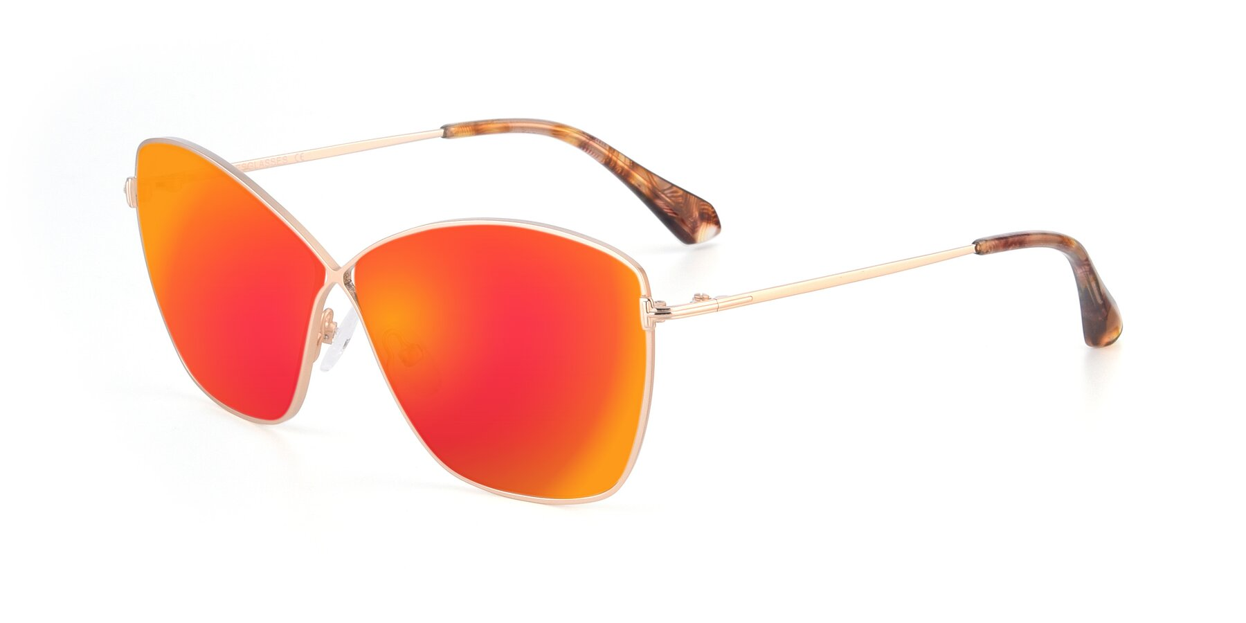 Angle of 9412 in Gold with Red Gold Mirrored Lenses