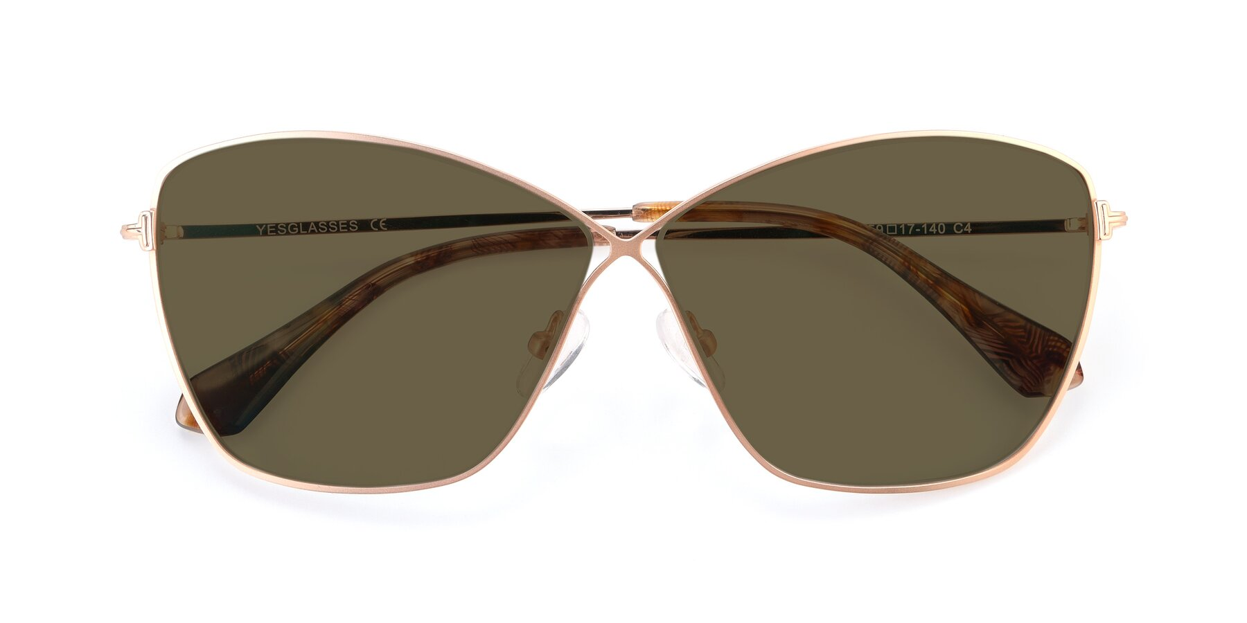 Folded Front of 9412 in Gold with Brown Polarized Lenses