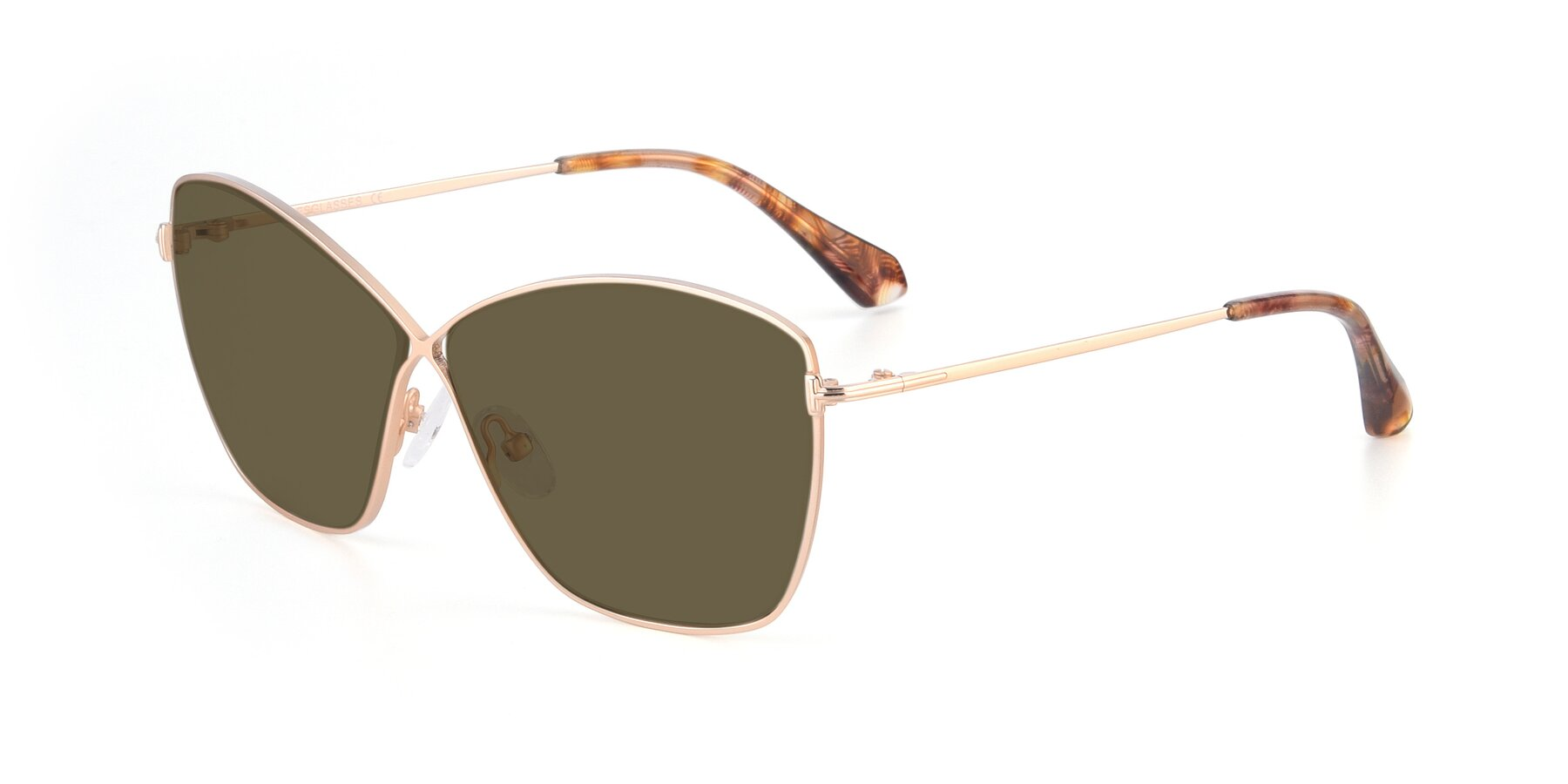 Angle of 9412 in Gold with Brown Polarized Lenses